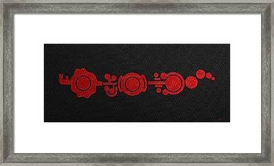 Crop Circle Formation Near Market Harborough In Leicestershire England In Red Framed Print