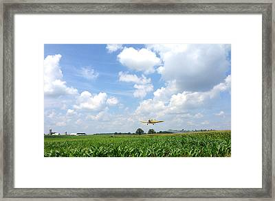 Yellow Crop Duster Framed Print by Charles Kraus