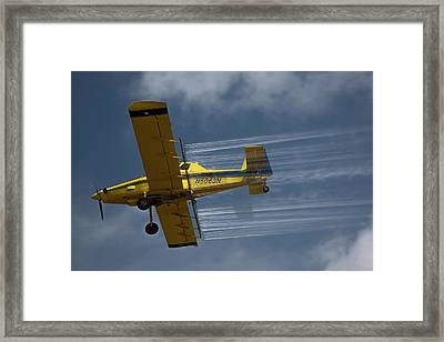 Crop Duster Spraying Pesticides Framed Print