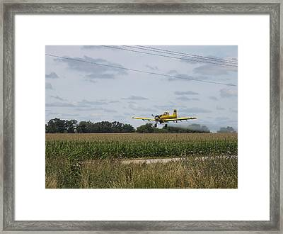 Crop Dusting 2 Framed Print by Victoria Sheldon