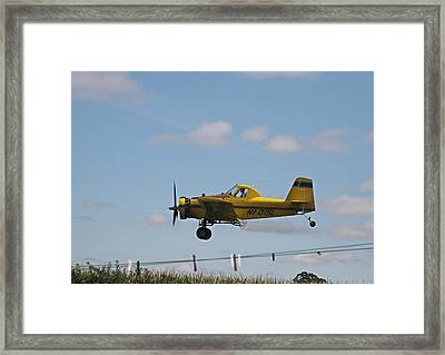 Crop Dusting Framed Print by Victoria Sheldon