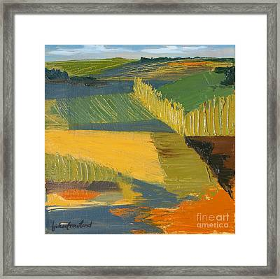 Framed Print featuring the painting Crop Fields by Erin Fickert-Rowland