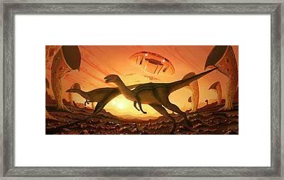 Crop Of Giant Plants On Alien World Framed Print
