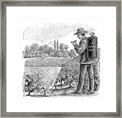 Crop Sprayer Framed Print by Science Photo Library