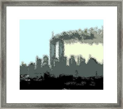 Cropped Distorted View Framed Print