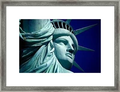 Cropped Image Of Statue Of Liberty Framed Print by Frank Schiefelbein / Eyeem