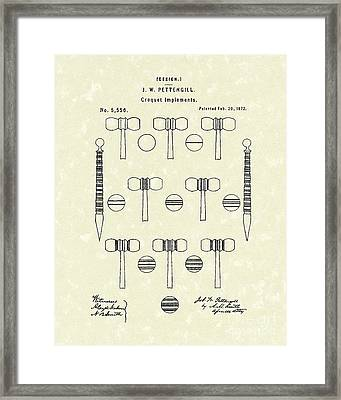 Croquet 1872 Patent Art Framed Print