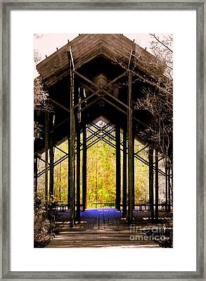 Crosby Arboretum Open Air Outdoor Pavillion Framed Print by Michael Hoard
