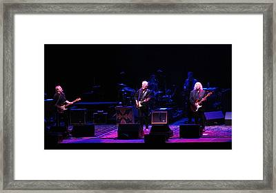 Crosby Stills And Nash Framed Print by Melinda Saminski