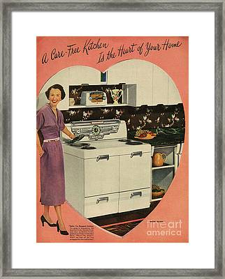 Crosleys  1950s Uk Cookers Kitchens Framed Print by The Advertising Archives