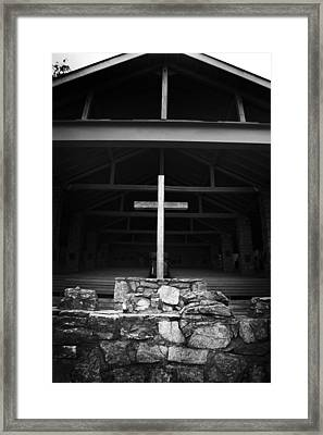 Framed Print featuring the photograph Cross 2 by Kelly Hazel