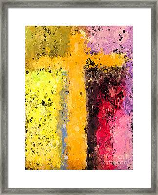 Cross Abstract Iv  Framed Print