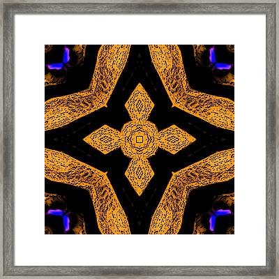 Cross And Butterflies 1 Framed Print by Marcela Bennett