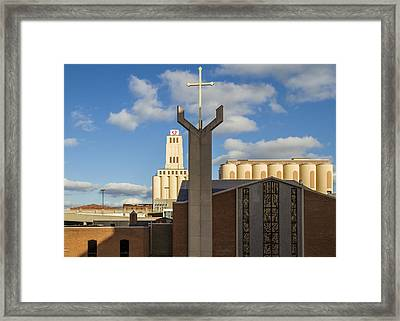 Cross And Oats  Framed Print by Tim Fitzwater