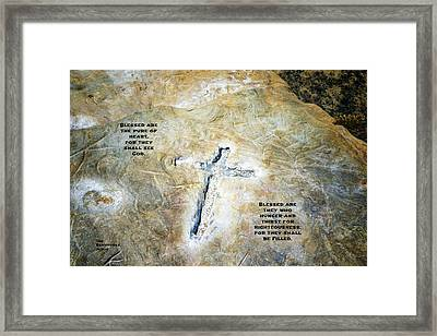 Cross And The Beatitudes Framed Print by Joseph S Giacalone