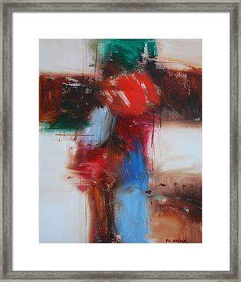Cross And The Rose Framed Print by Richard Hinger