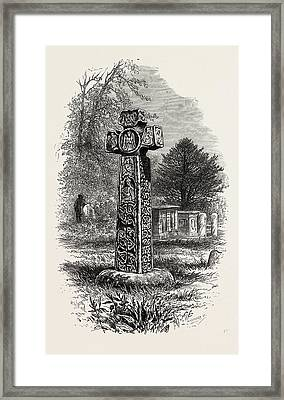 Cross At Eyam, The Dales Of Derbyshire, Uk Framed Print by English School