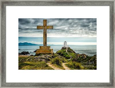 Cross At Llanddwyn Island Framed Print