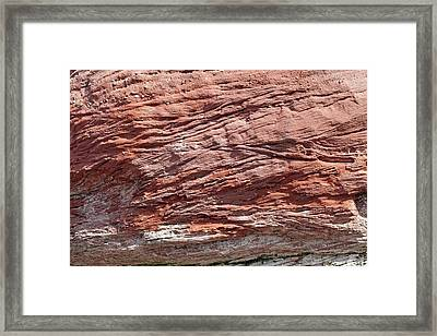 Cross Bedded Sandstone Framed Print by Dirk Wiersma