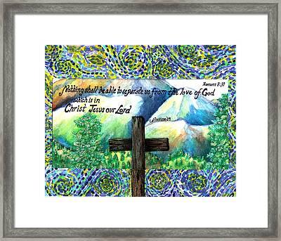 Cross Framed Print by Catherine Saldana