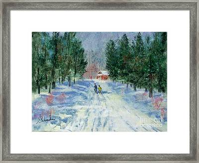 Cross Country At Blackwater Framed Print by Bruce Schrader