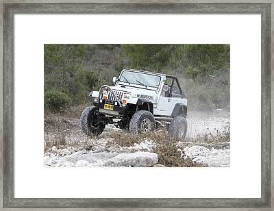 Cross Country Rally. Framed Print
