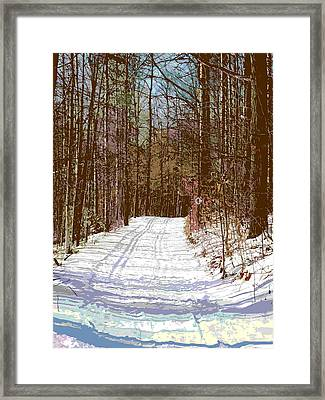 Framed Print featuring the photograph Cross Country Trail by Nina Silver