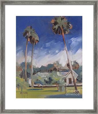 Cross Creek Palms  Framed Print