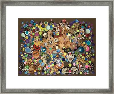 Cross Eyed Ladies Framed Print
