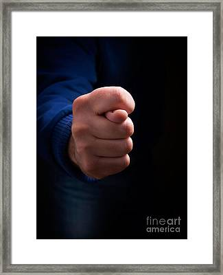 Cross Fingers Framed Print by Sinisa Botas
