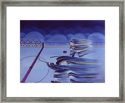Cross Ice Pass Framed Print by Ken Yackel