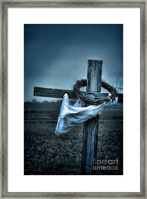 Cross In A Field Framed Print
