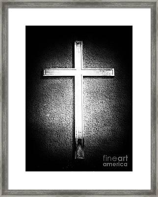 Cross Framed Print by John Rizzuto