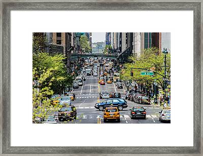 Cross Manhattan - 42nd Street Framed Print