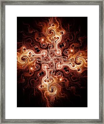 Cross Of Fire Framed Print by Anastasiya Malakhova