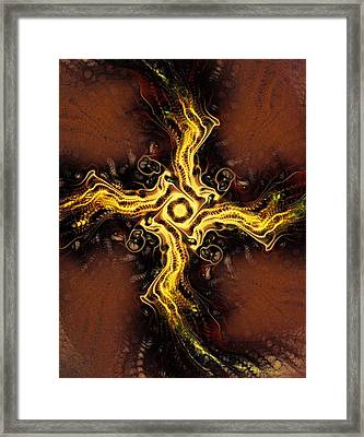 Cross Of Light Framed Print by Anastasiya Malakhova