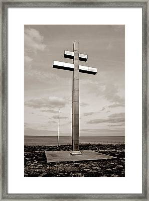 Cross Of Lorraine Framed Print by Olivier Le Queinec