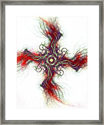 Cross Of Nature Framed Print by Anastasiya Malakhova