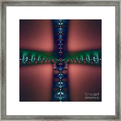 Cross Of The Dark Realms Framed Print by Maurice King