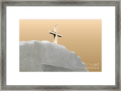 Cross Of The Martyrs Framed Print by Linda  Parker