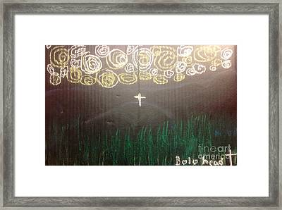 Cross On The Mountain Framed Print by Willard Hashimoto