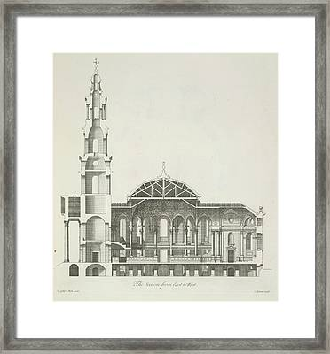 Cross Section Of A Building Framed Print