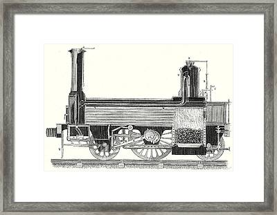 Cross Section Of A Locomotive Showing How The Steam Framed Print