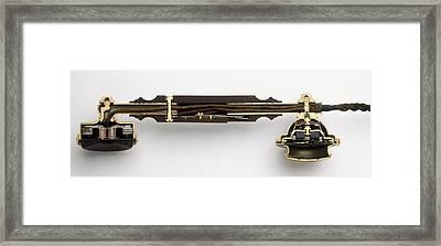 Cross-section Through Telephone Handset Framed Print by Dorling Kindersley/uig