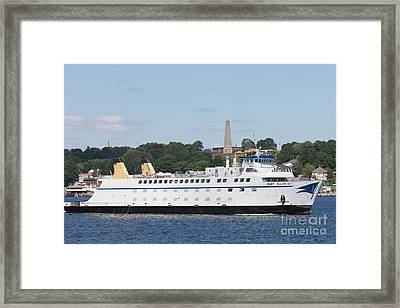 Cross Sound Ferry Mary Ellen I Framed Print by Clarence Holmes