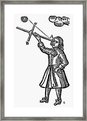 Cross-staff, 1669 Framed Print by Granger