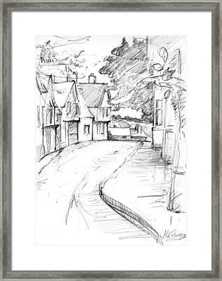 Cross Street Sudbury Framed Print