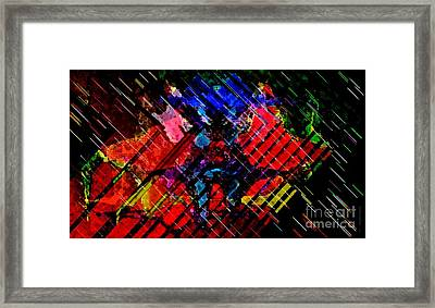 Full Color Cross Strokes For Decoration In Horizontal Art  Framed Print by Mario Perez