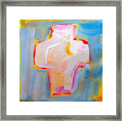Cross Framed Print by Sue Scoggins