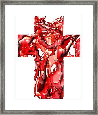 Cross... The Line Framed Print